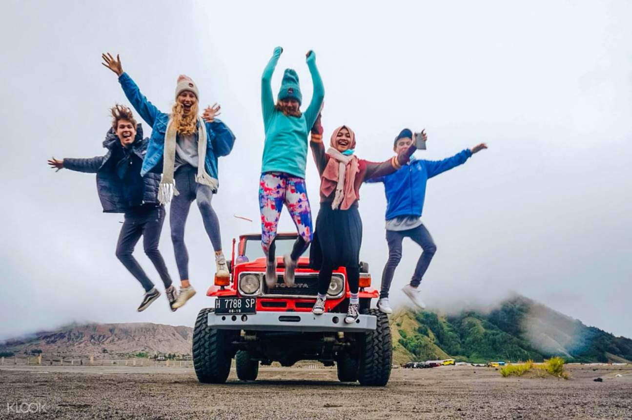 friends at bromo national park