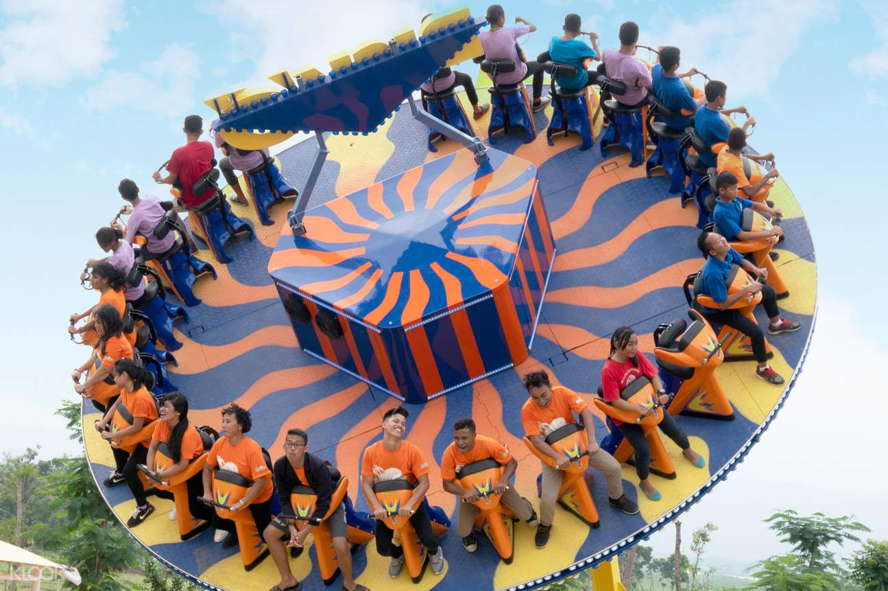 a thrilling ride in Saloka Theme Park