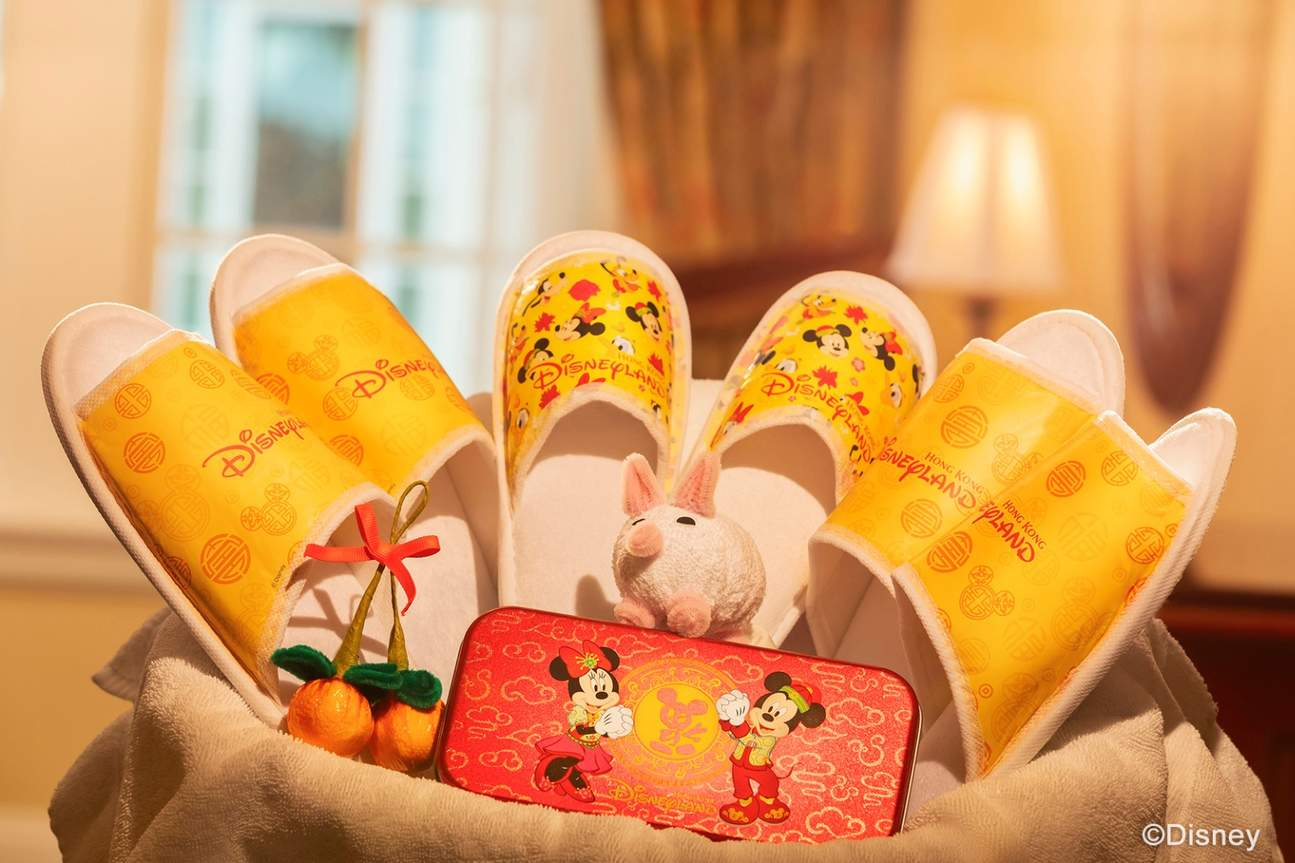 disneyland festive in-room decorations chinese new year