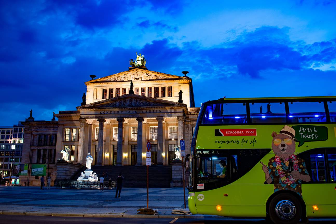 the bus in front of The Konzerthaus Berlin