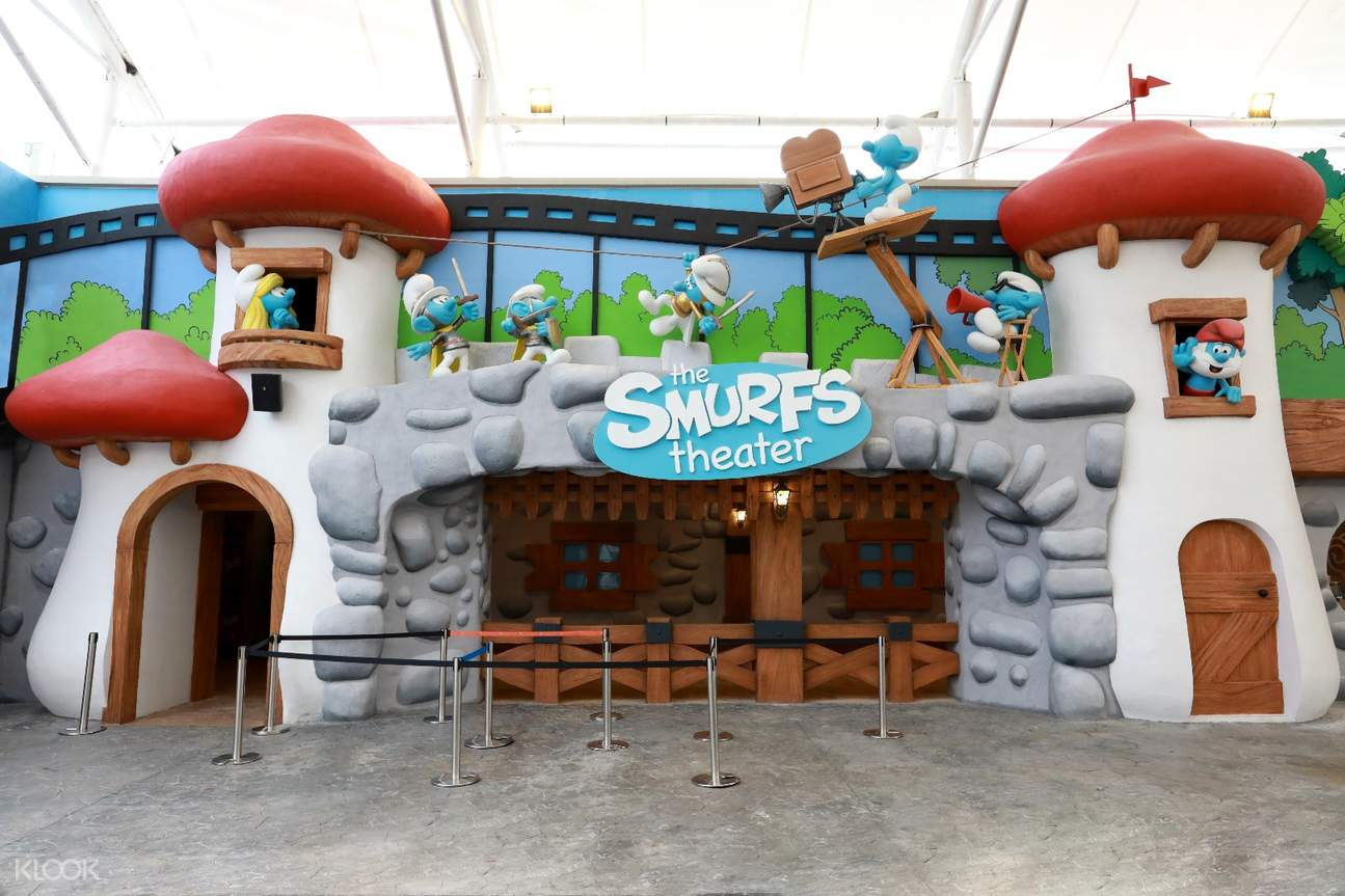 the smurfs theatre movie animation park studios maps ticket ipoh