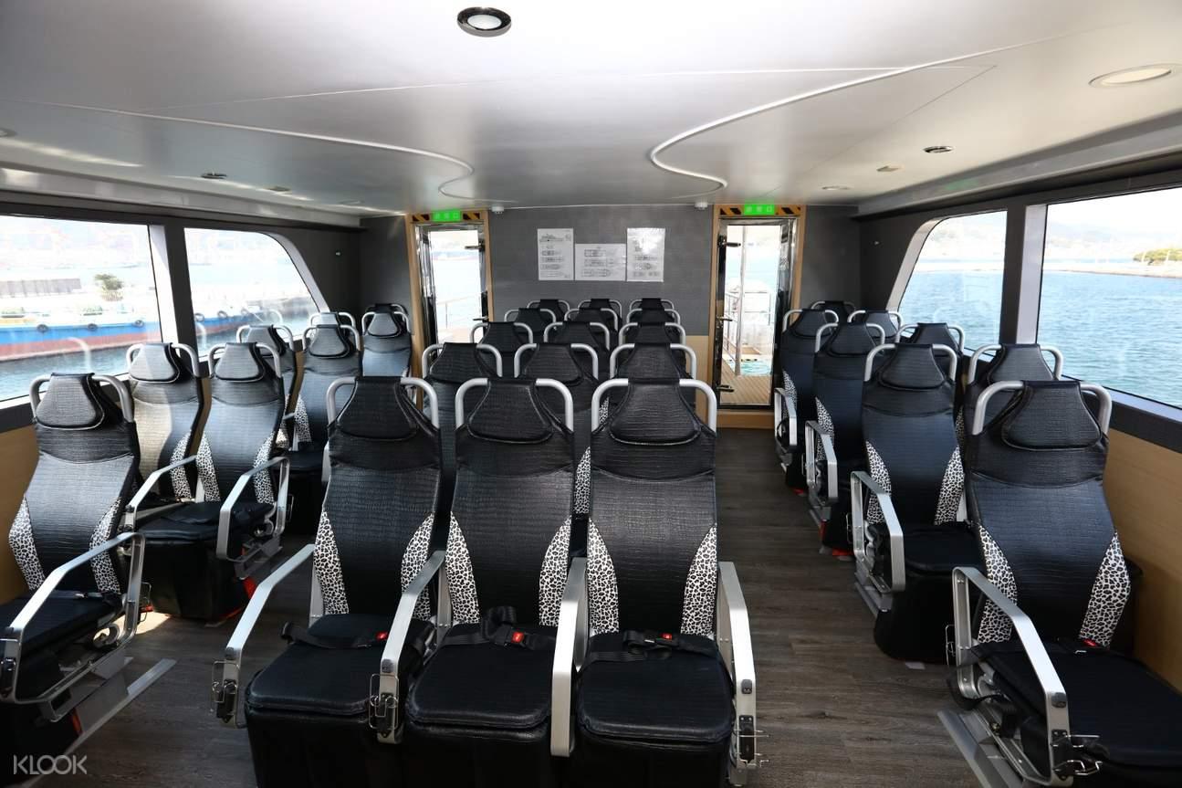 tourist ship interior