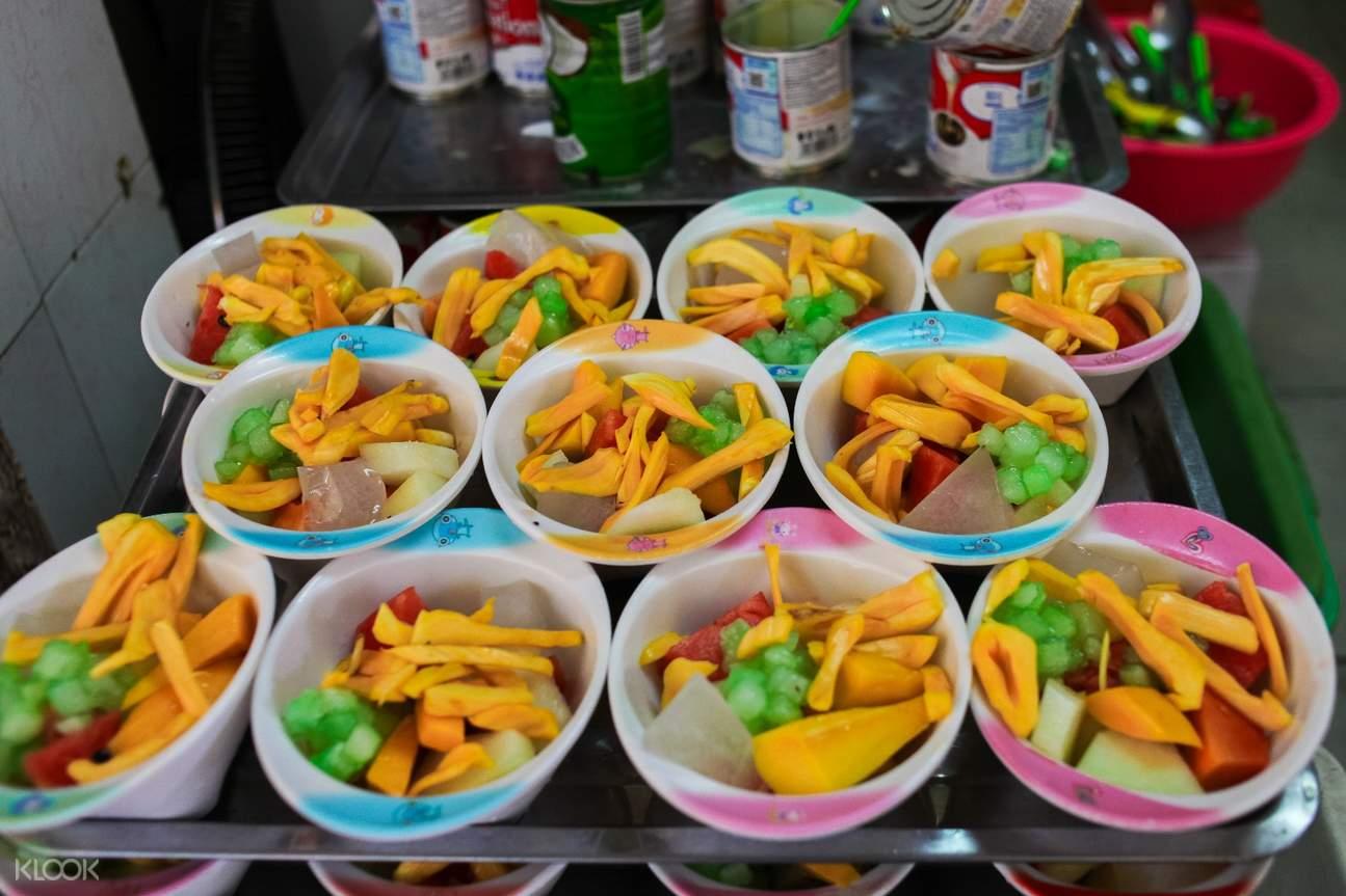 越南 河內街頭美食徒步 水果杯