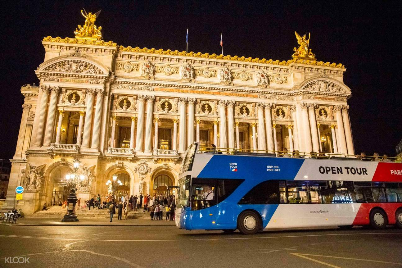 paris night bus tour