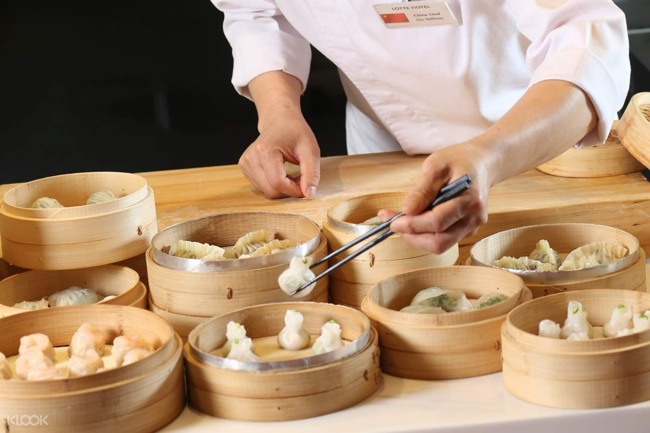 dumplings at La Seine Buffet at Lotte Hotel Seoul