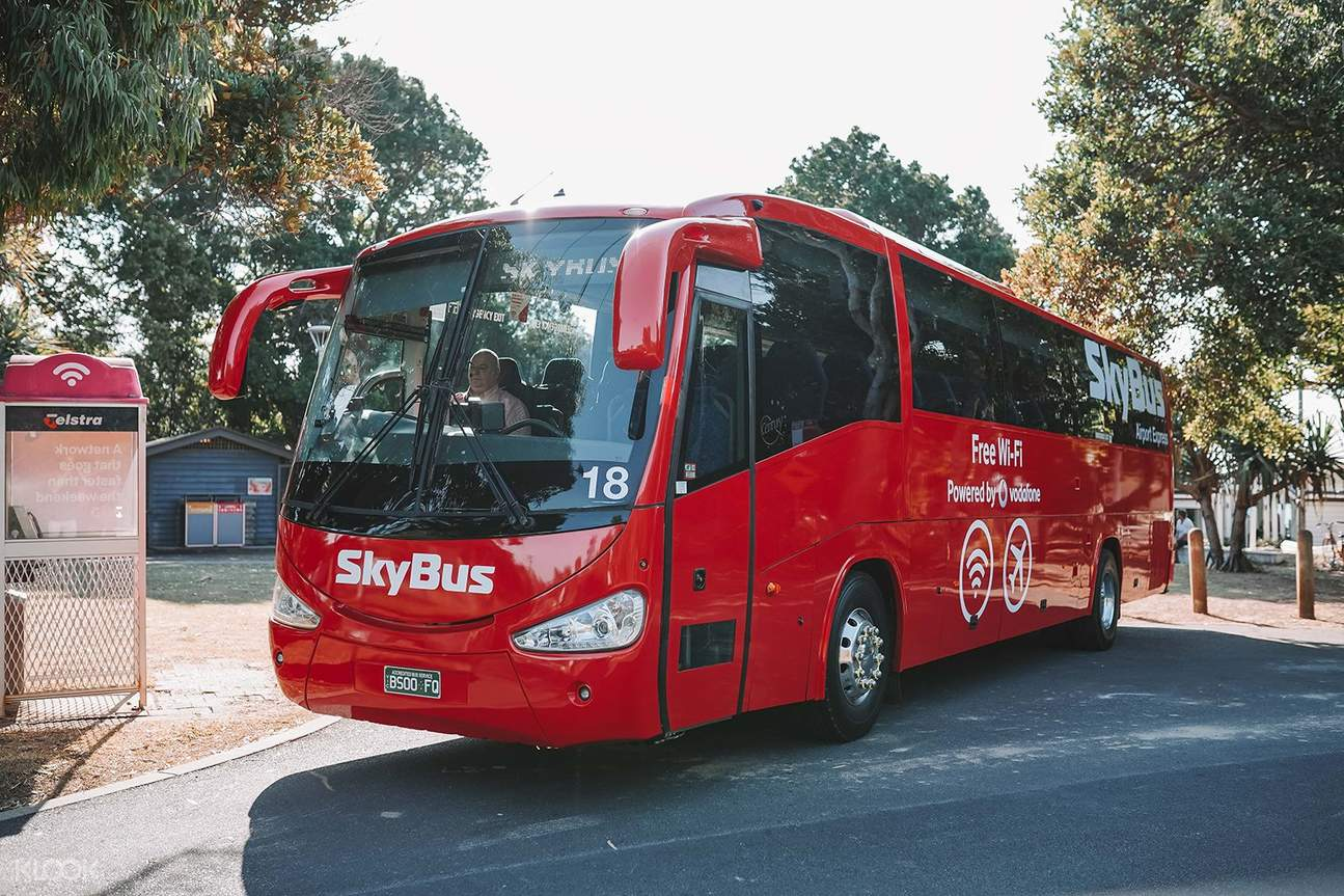 red skybus at bus trop
