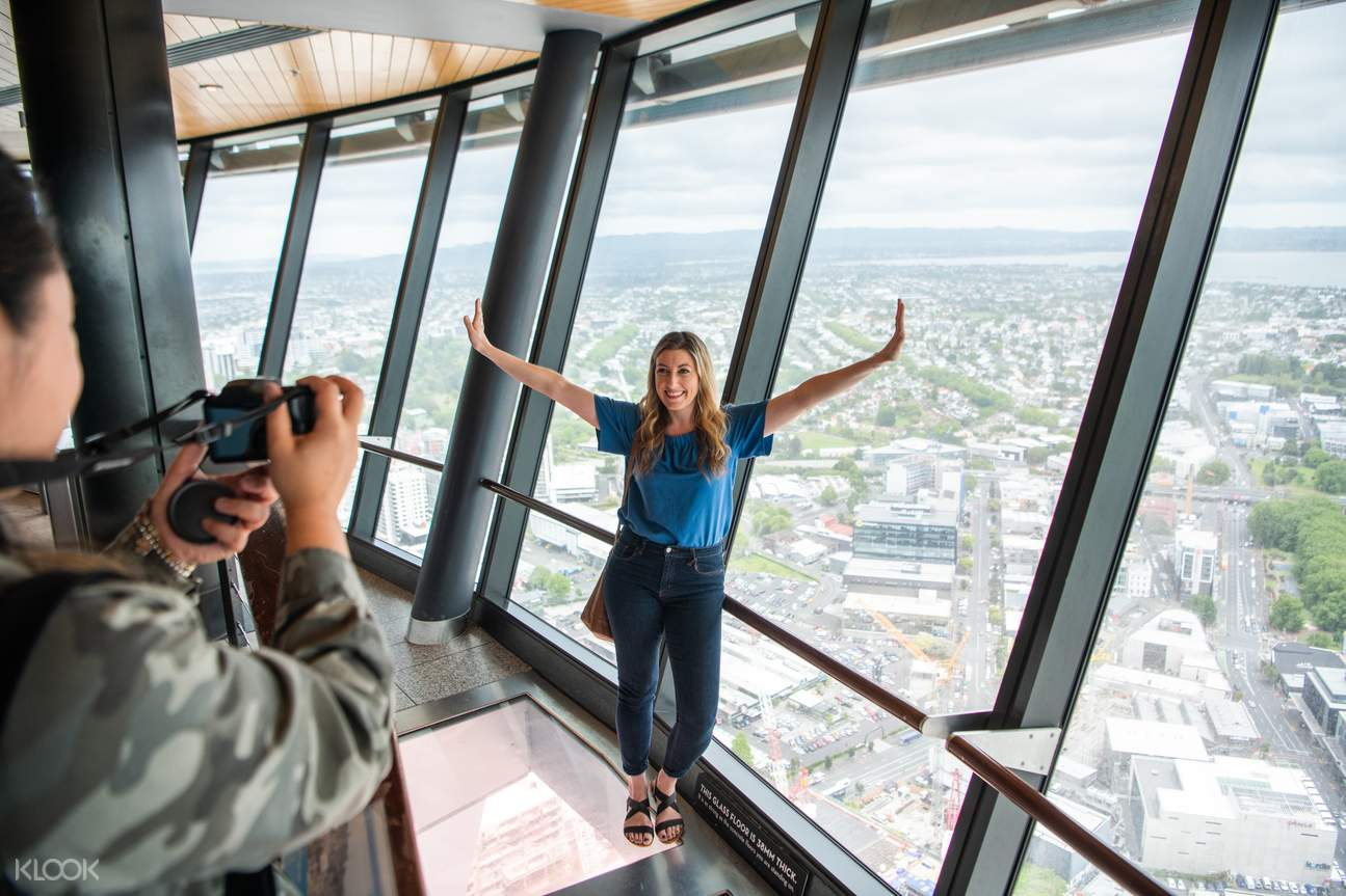 scenic views from Auckland Sky Tower