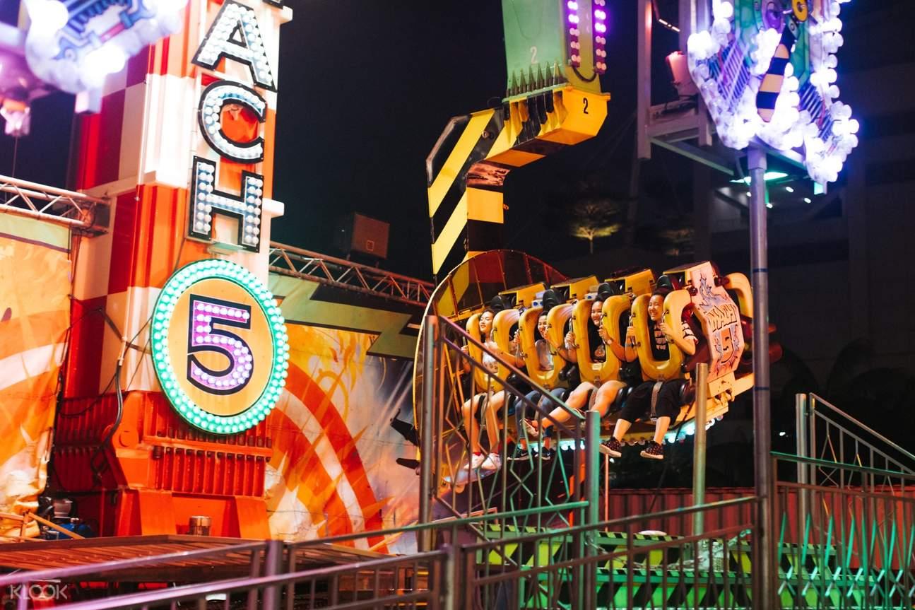 Marina Bay Carnival rides