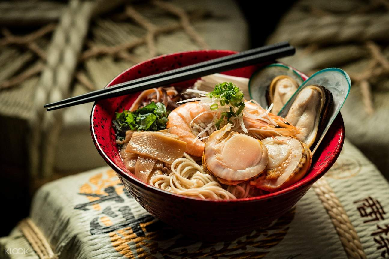prawn and seafood hokkaido miso soup with ramen studio city macau