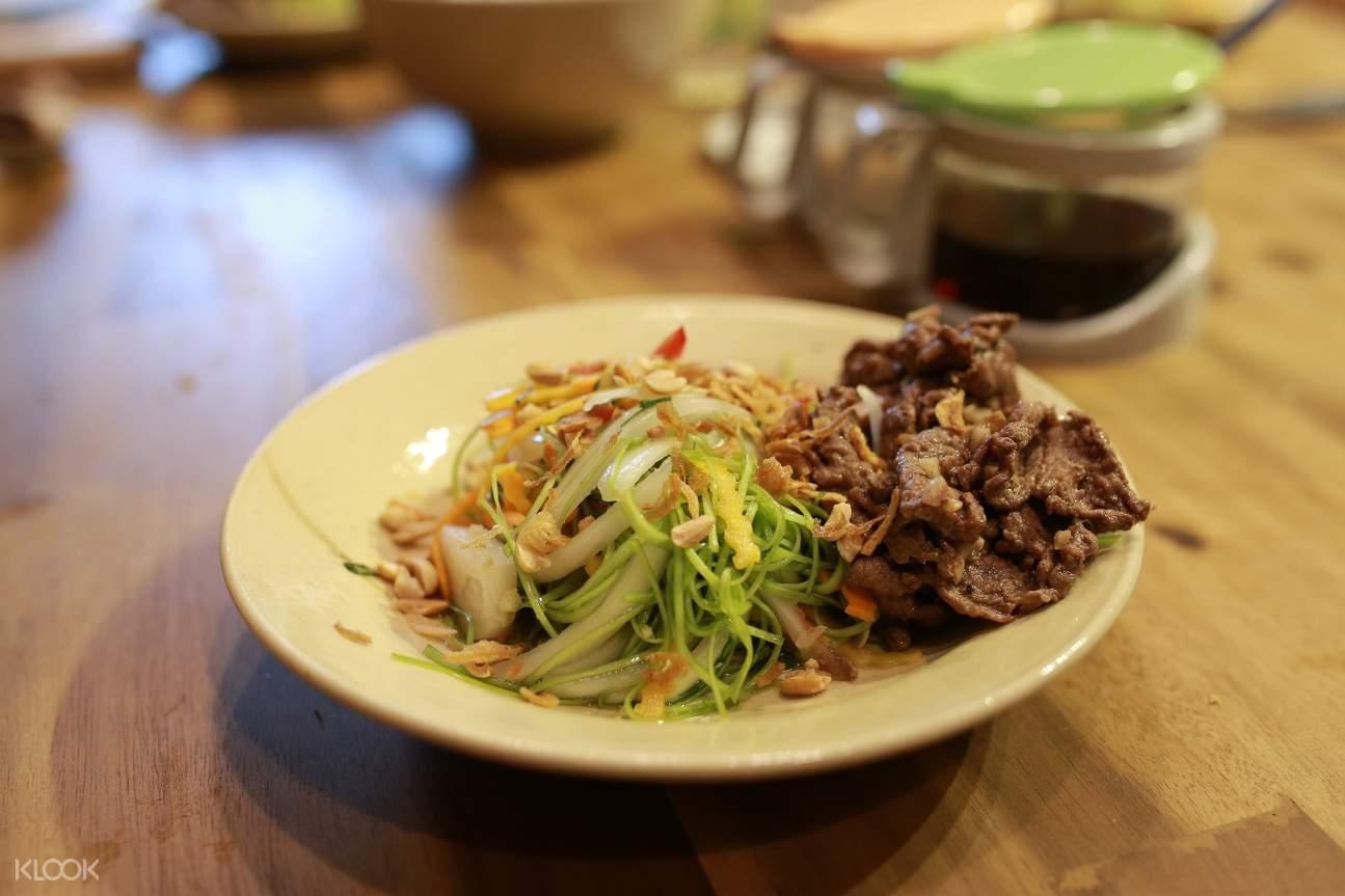 gỏi rau muống the vietnamese cooking class ho chi minh city