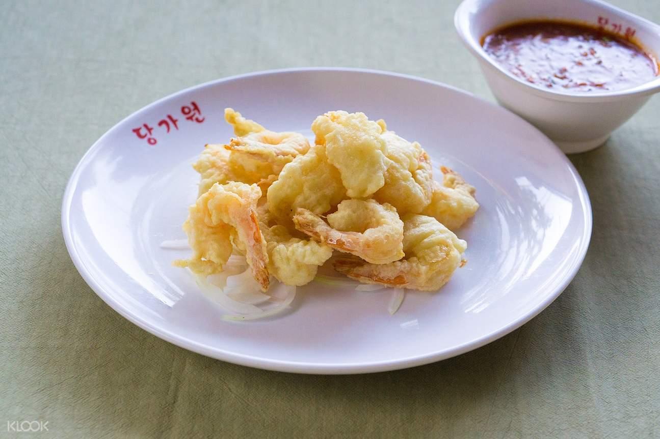 首爾明洞唐家園炸蝦