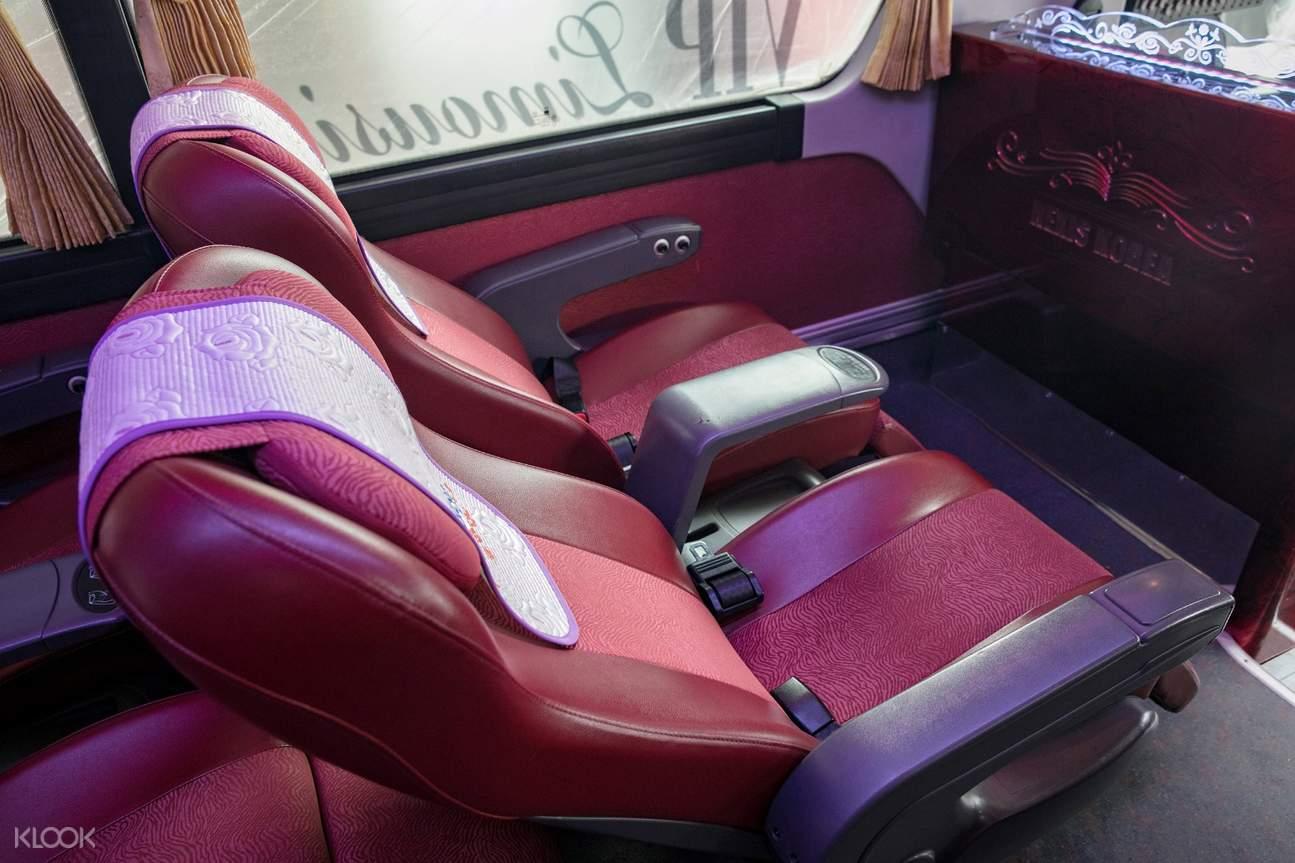 limousine seats hanoi sapa