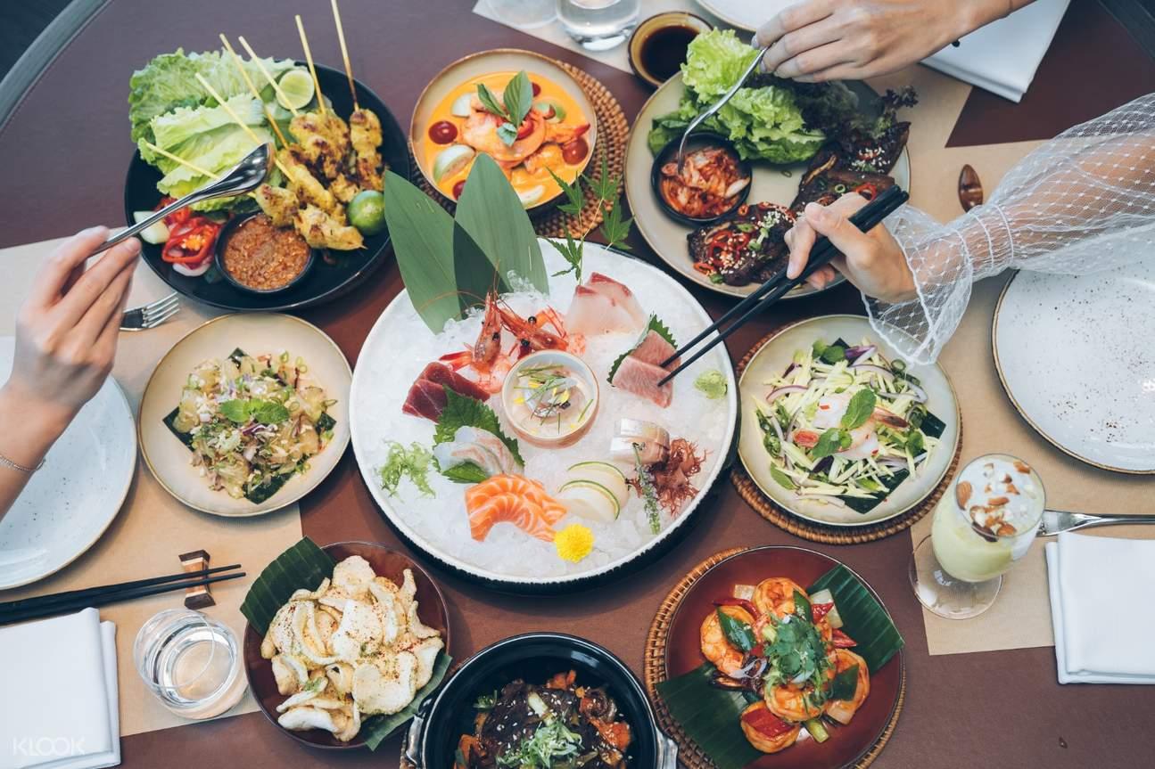 Hyatt Centric Staycation food spread