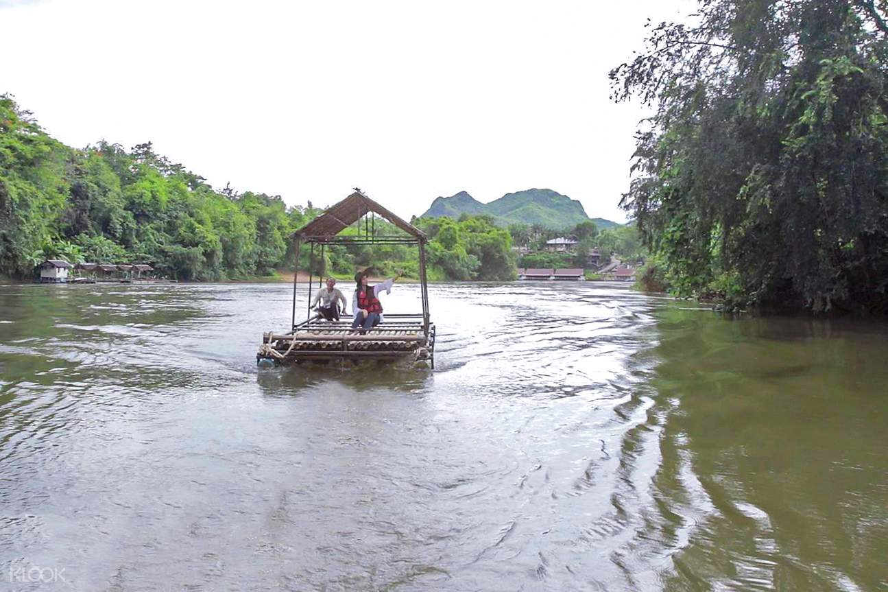 bamboo rafting 2d1n kanchanaburi private tour