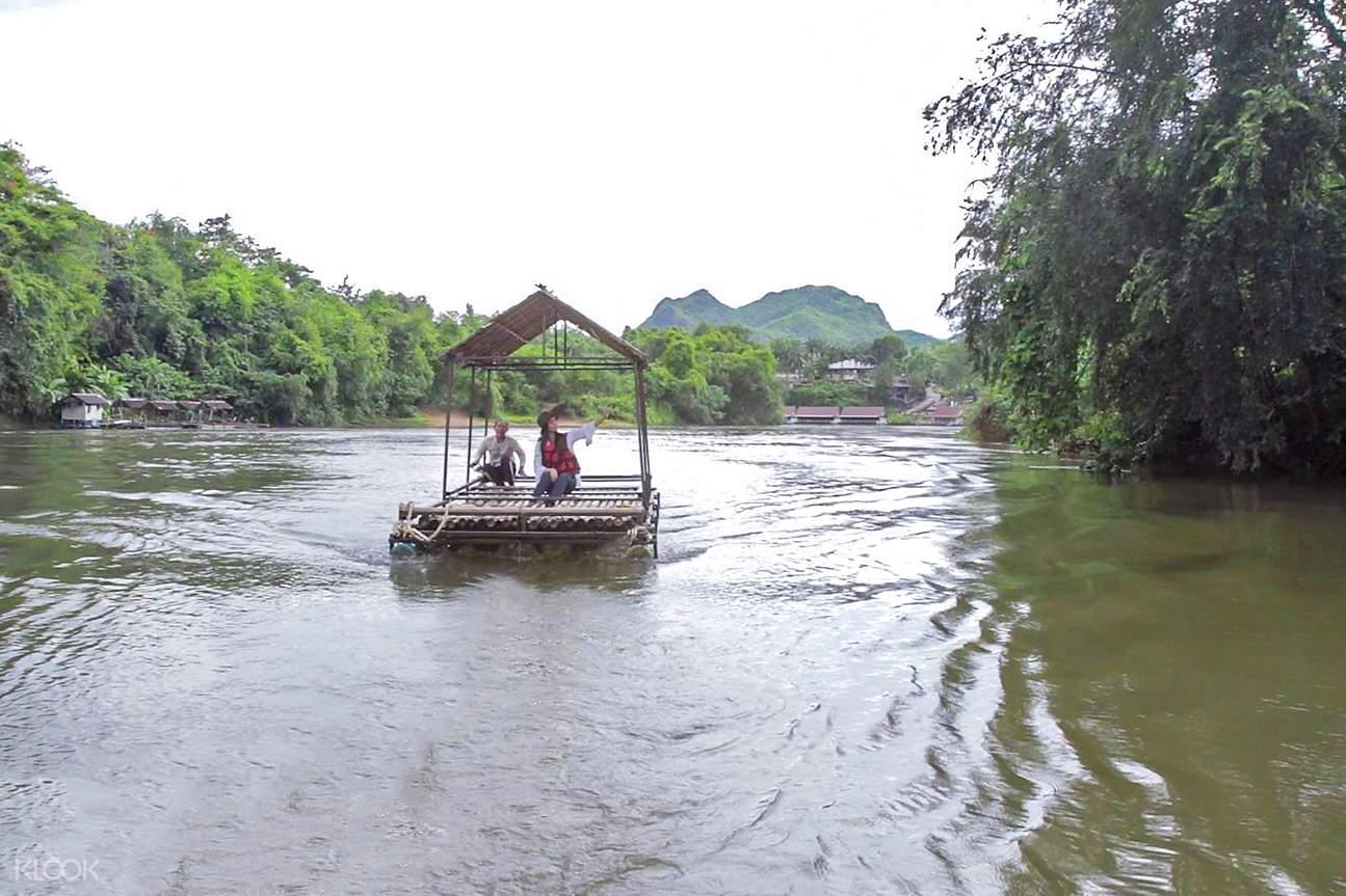 bamboo rafting 2d kanchanaburi private tour