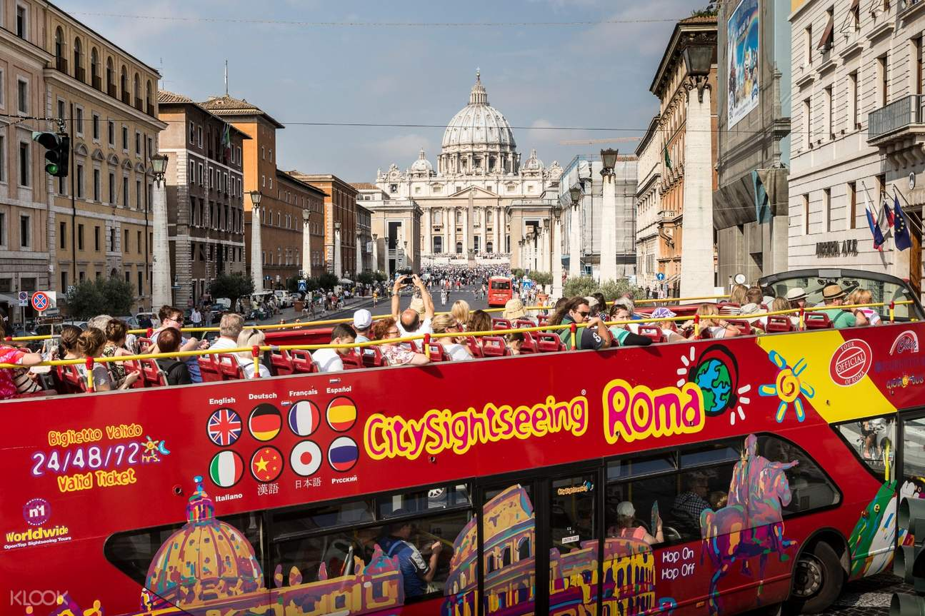 sightseeing bus tour rome