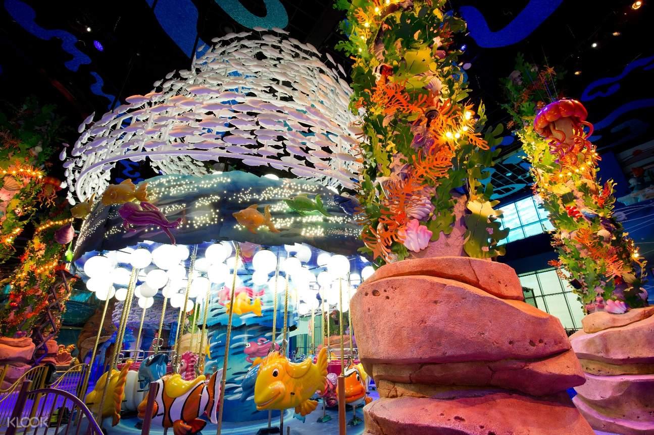 樂天世界兒童主題樂園,樂天世界海底王國門票,韓國親子遊