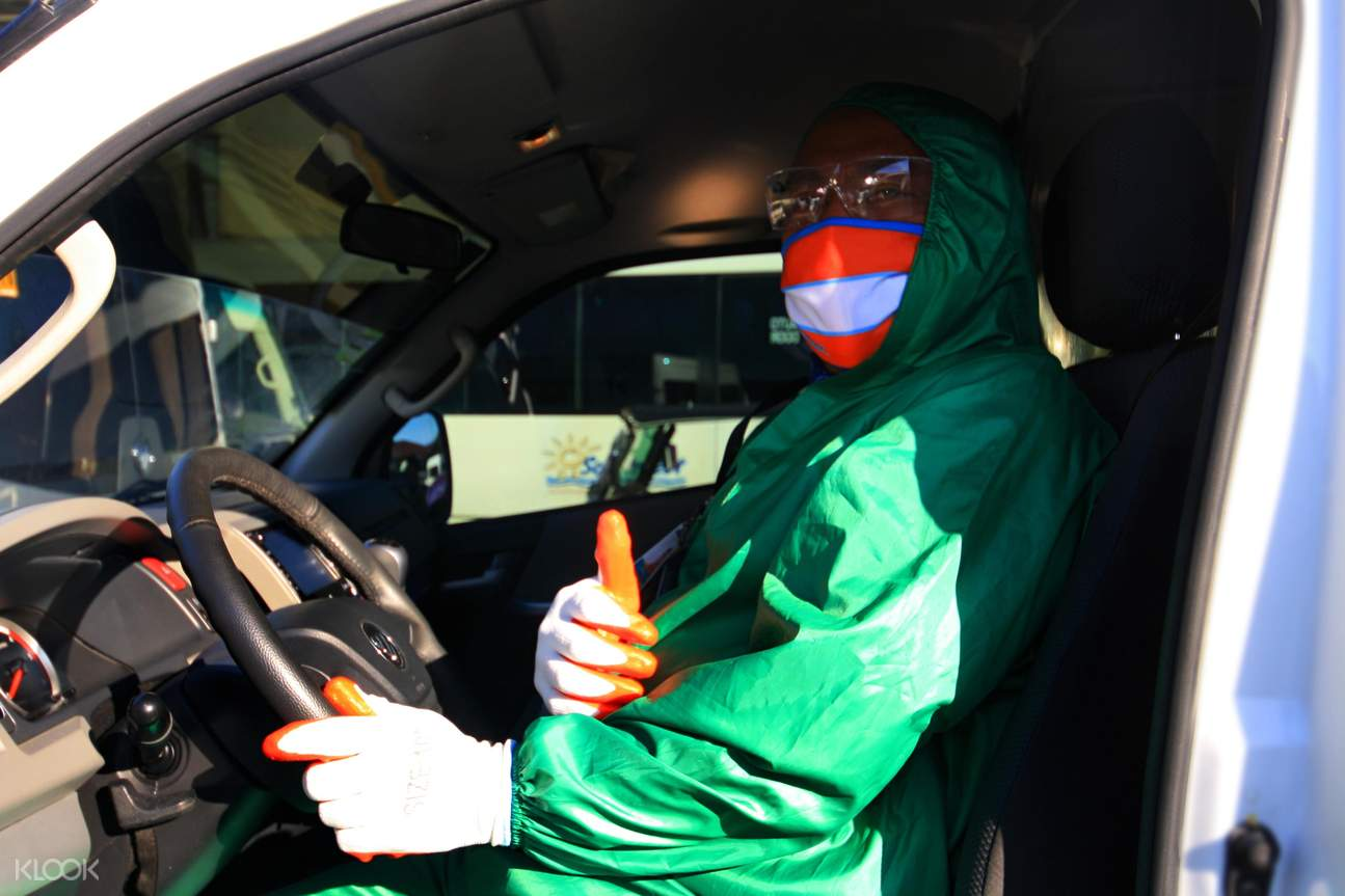 sanitized vehicle for Kalibo transfer