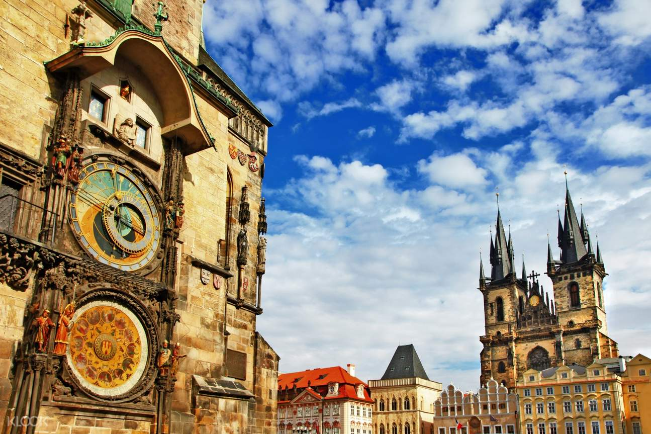 astronomical clock in prague's old town square