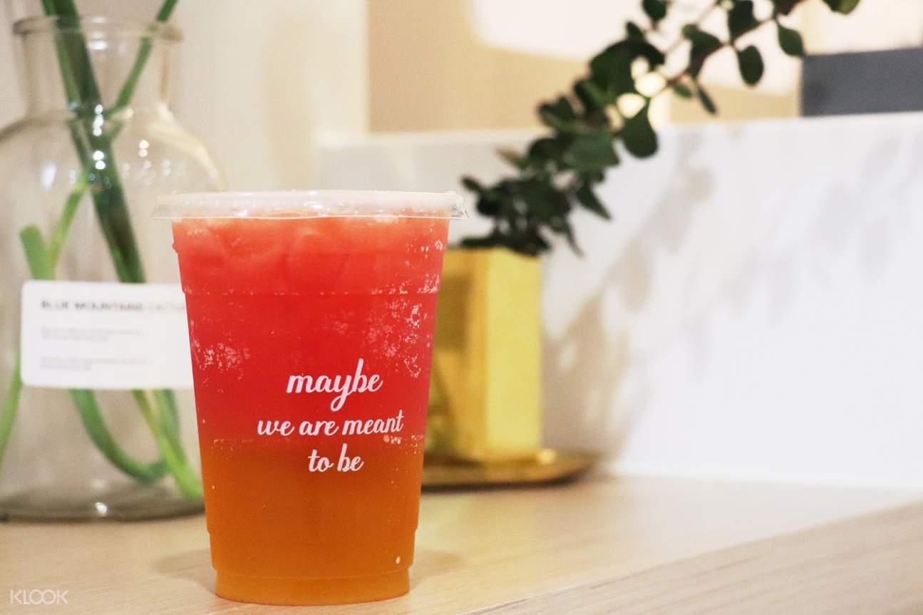 watermelon green tea at maybe juice da'an district taipei