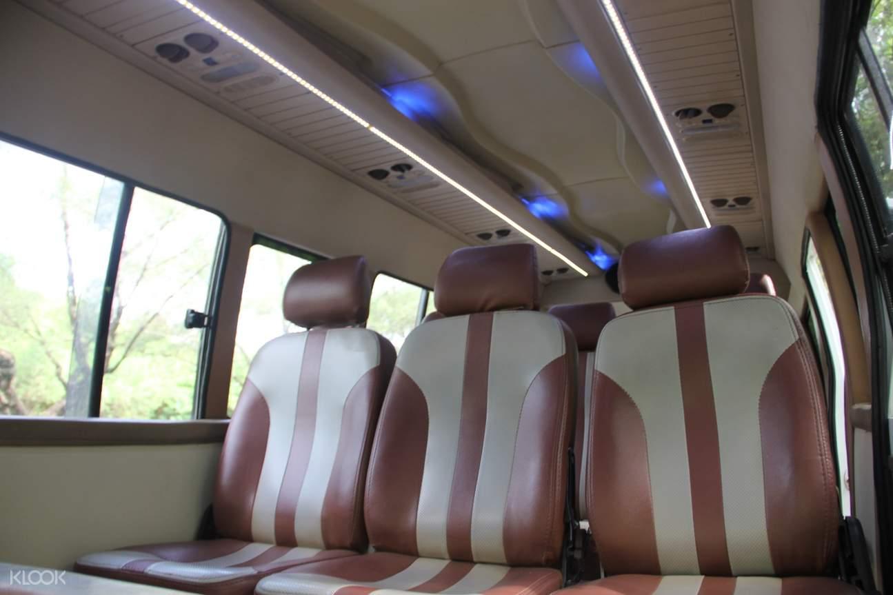 minibus interior in bedugul