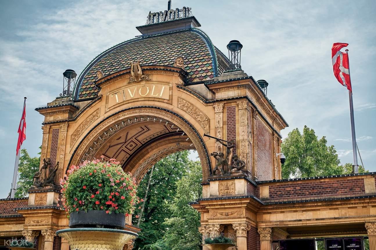 the entrance arch of tivoli gardens