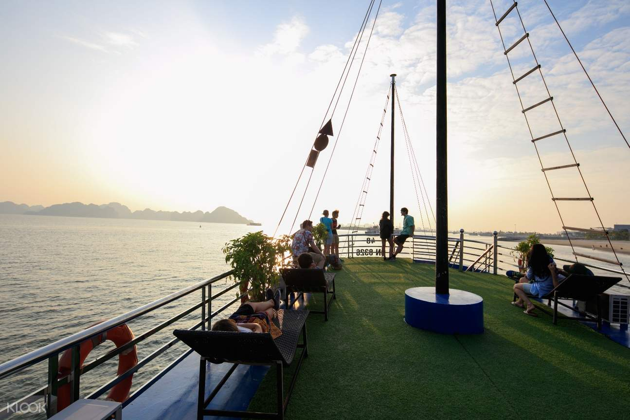 Cruise View Deck at Ha Long Bay Day Tour by Cruise from Hanoi