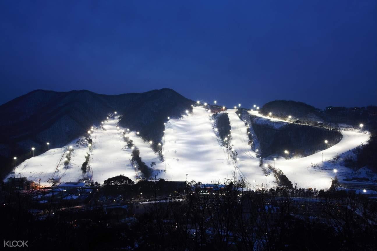芝山滑雪度假村夜間滑雪 & 愛寶樂園一日遊