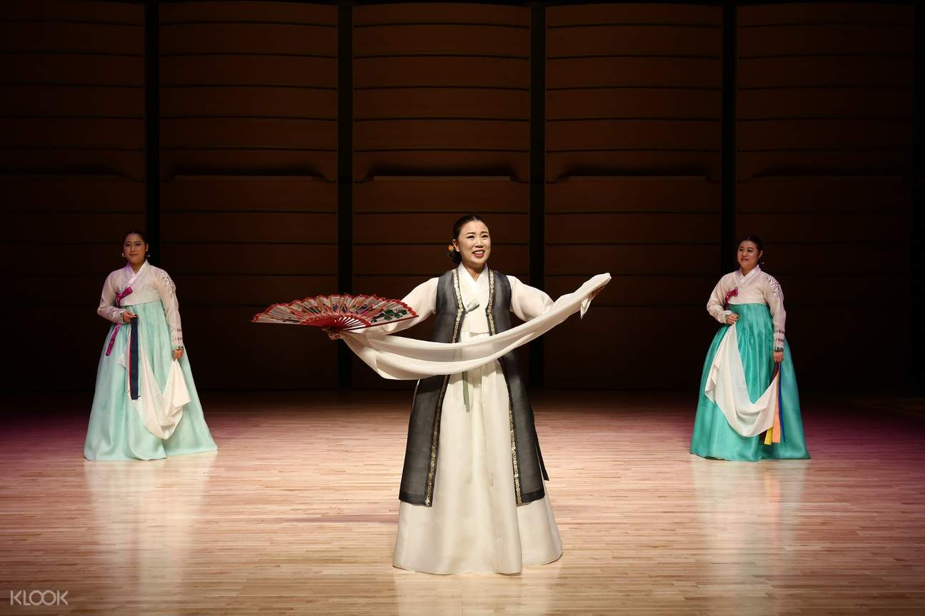 korean women in hanbok onstage