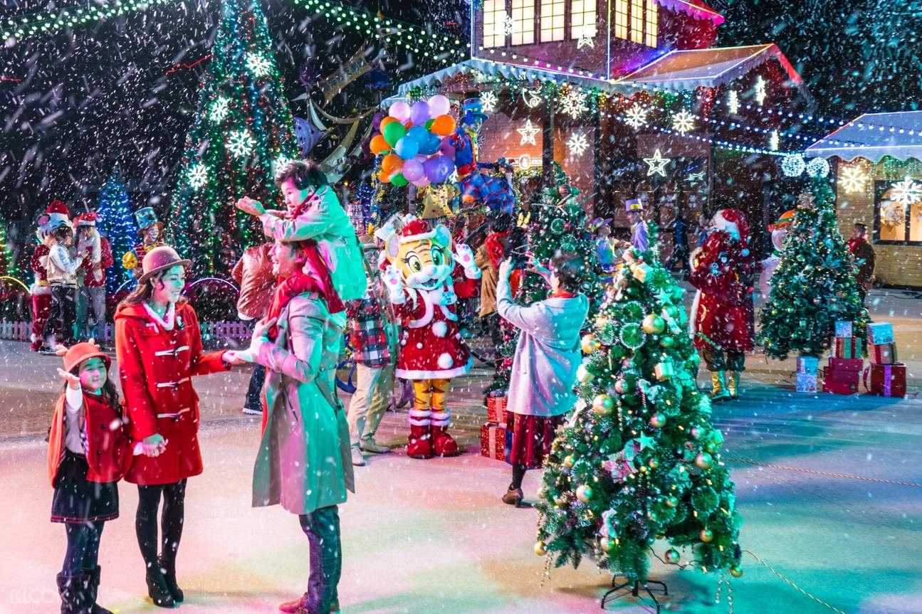 christmas in chimelong ocean kingdom park