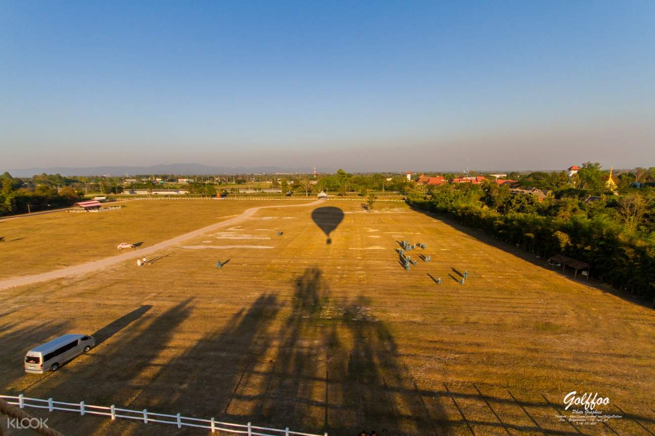hot air balloon ride view