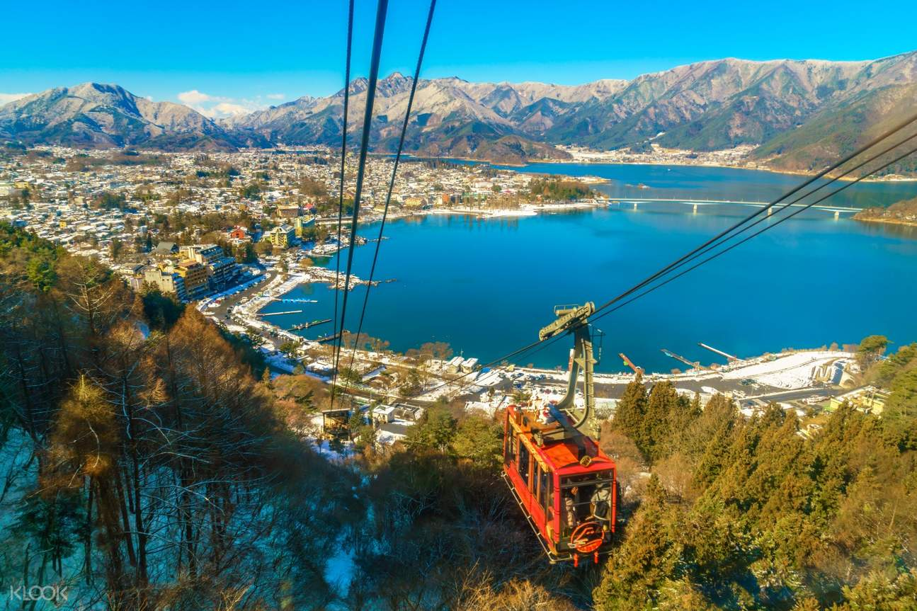 kachi kachi ropeway with the lake view in the background