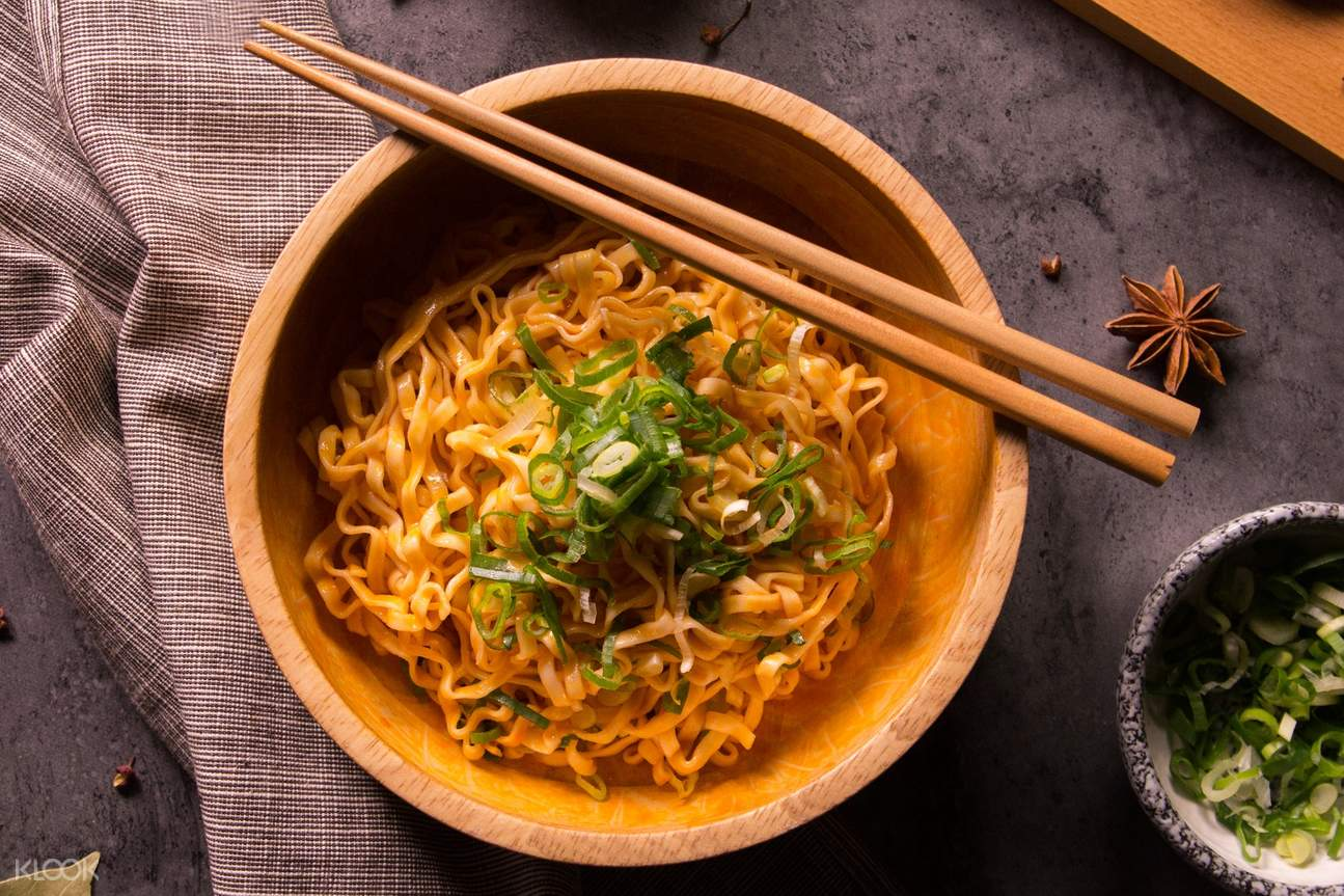 bowl of The Master Instant Spicy Noodles