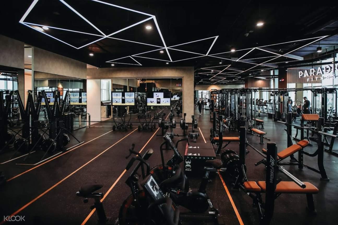 peralatan gym di Paradigm Fitness Jakarta