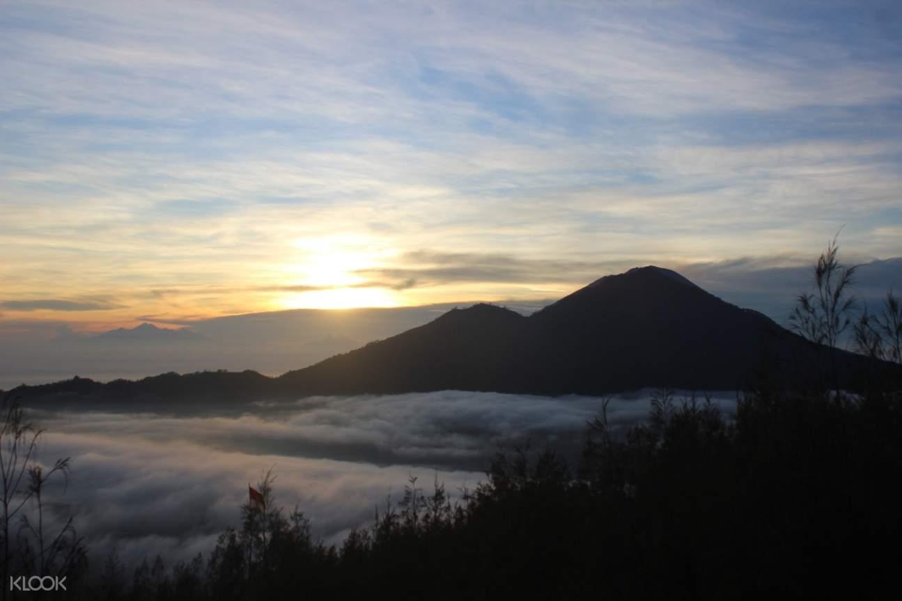 sunrise view of mount batur