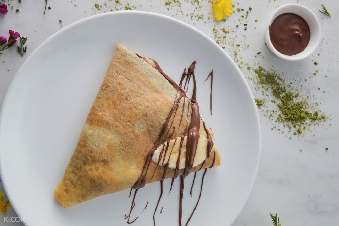 香港中环cafe crepe nutella榛子酱法式薄饼