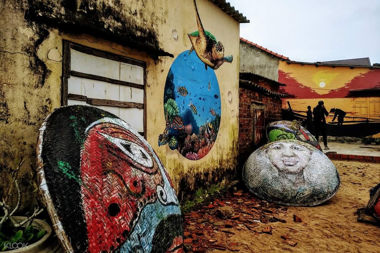 越南 三青渔村 三青壁画村