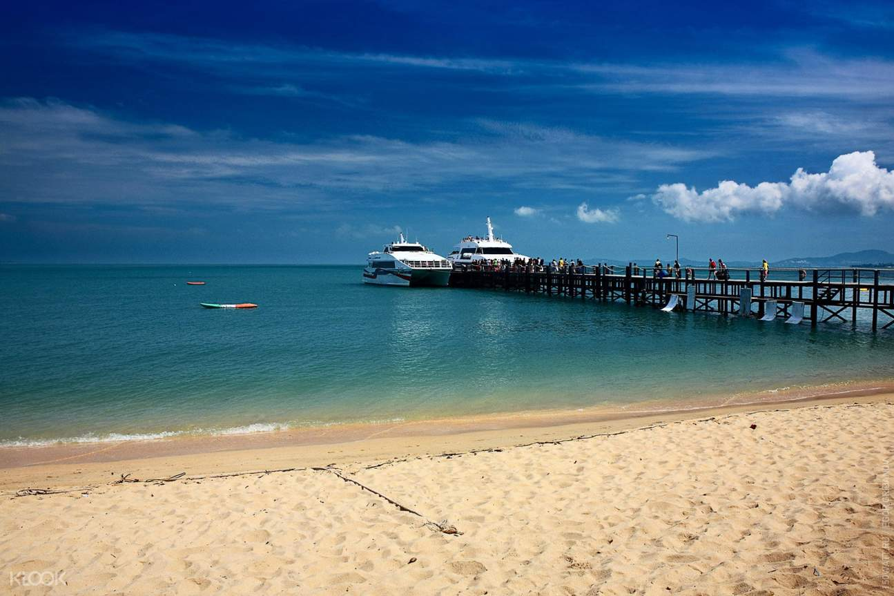 beachfront in thailand with jetty port