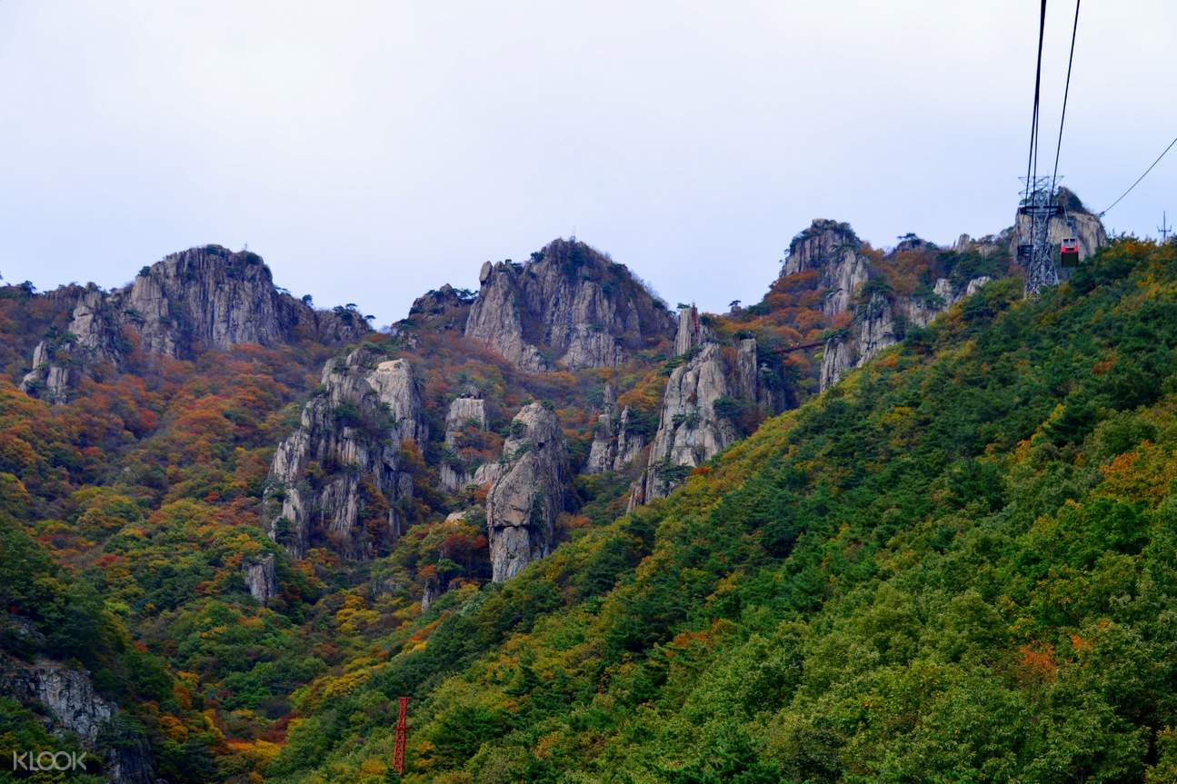 rocky formations of the daedun mountain
