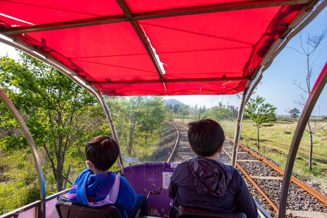 jeju rail bikes and landscapes