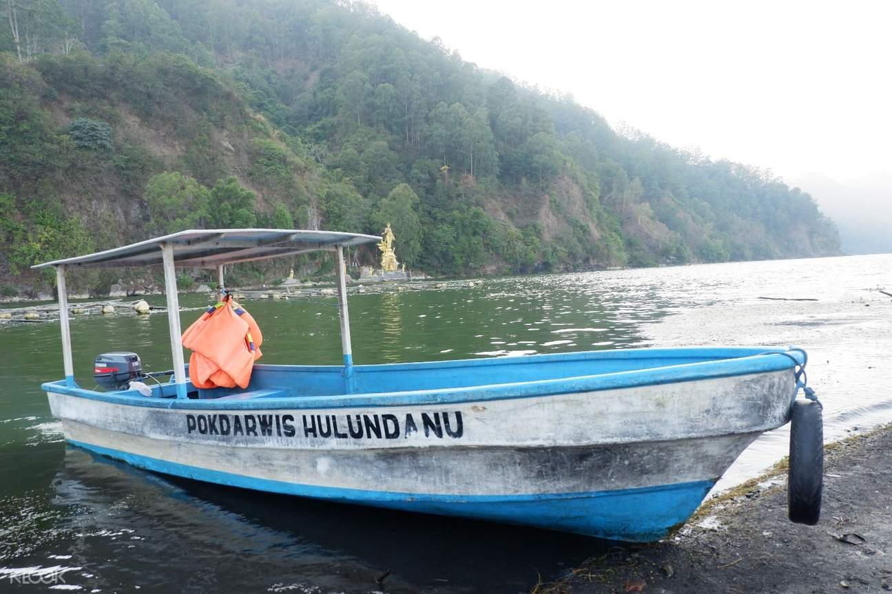 boat to Mount Batur Caldera