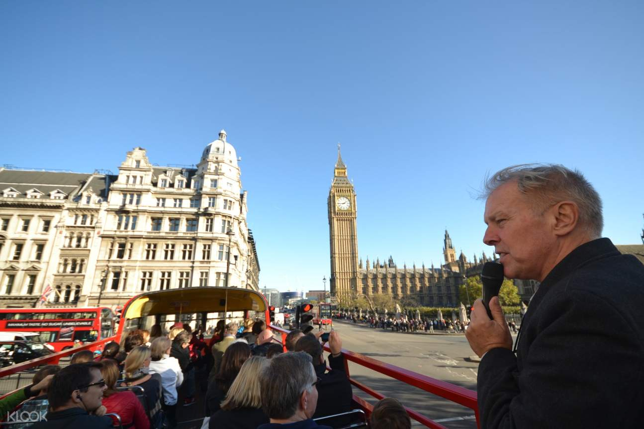 open top bus tour london
