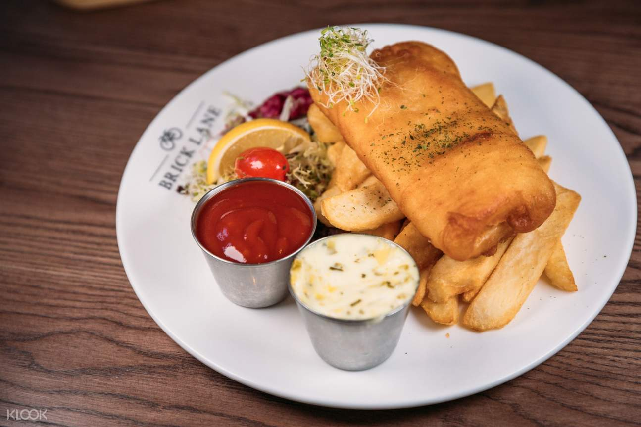 Fish and Chips at BRICK LANE in Causeway Bay