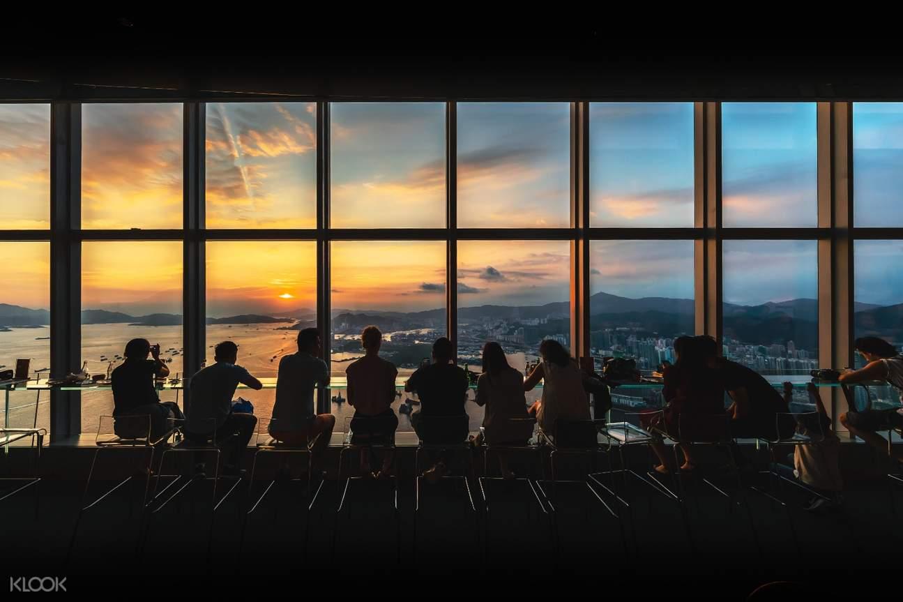 fireworks at sky100 observation deck
