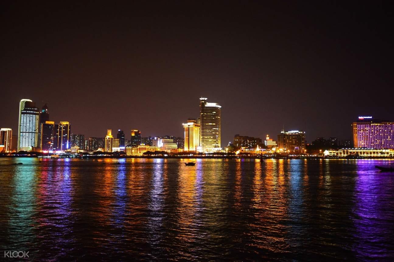 Xiamen evening skyline