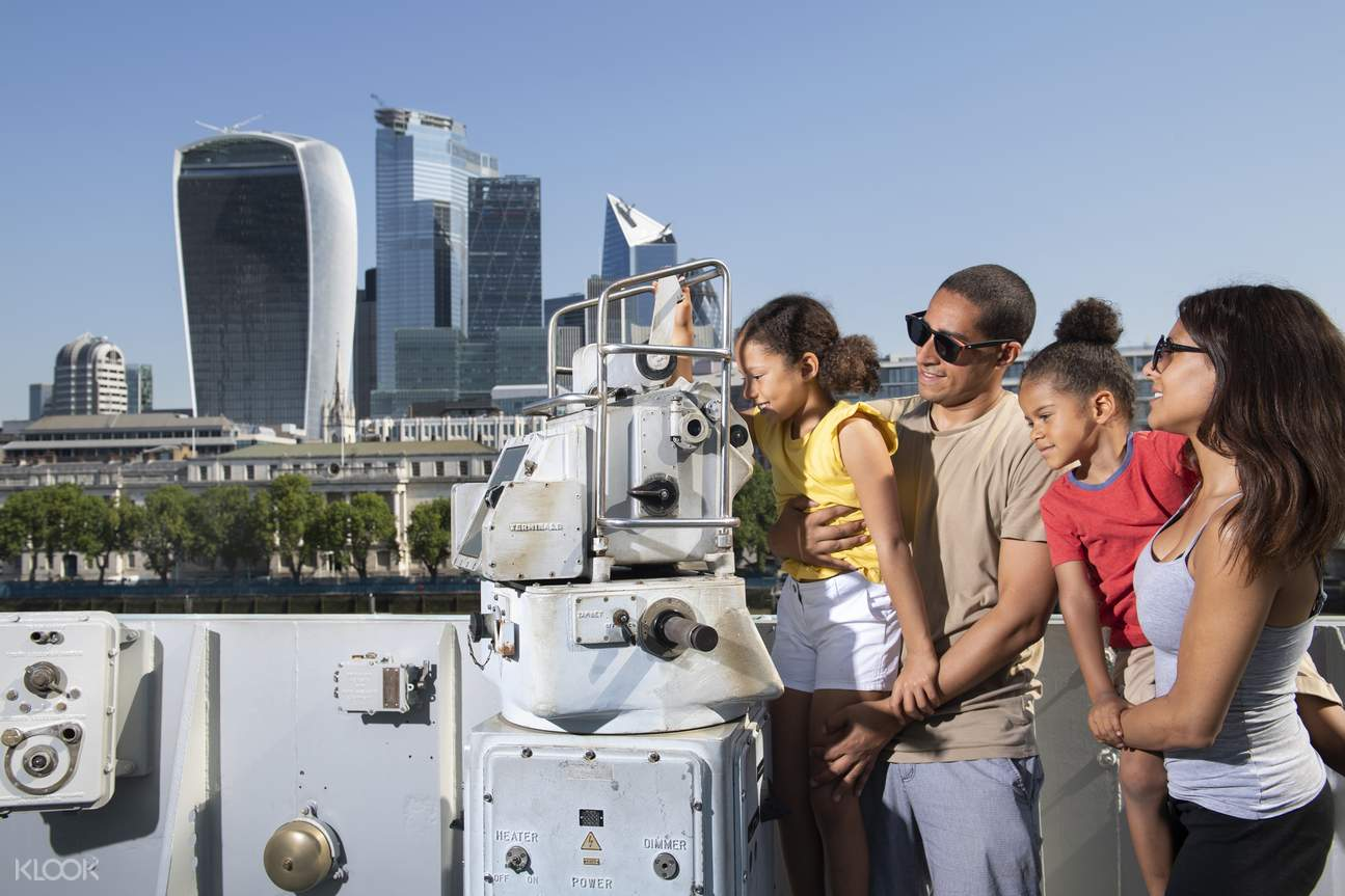 view of the entire HMS Belfast ship