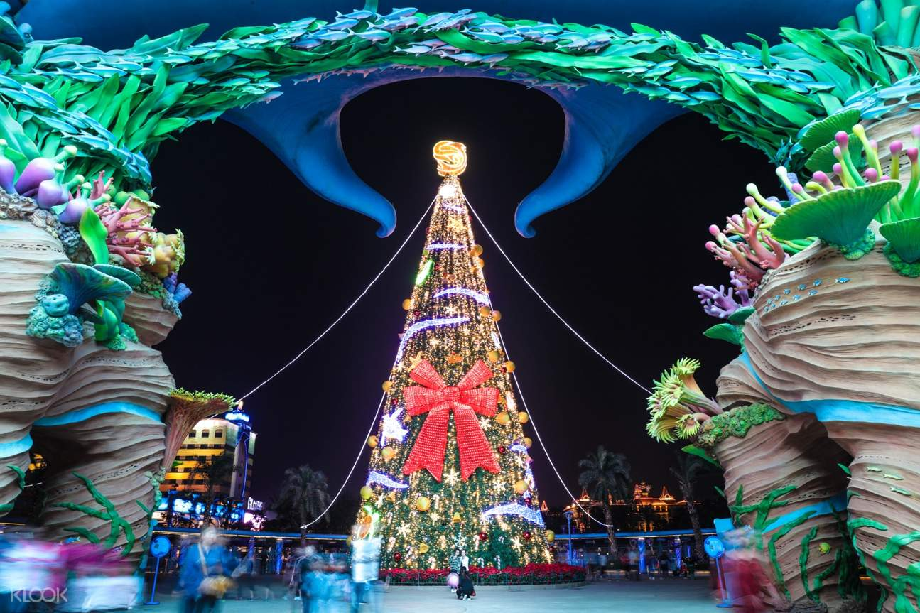 christmas tree in chimelong ocean kingdom park