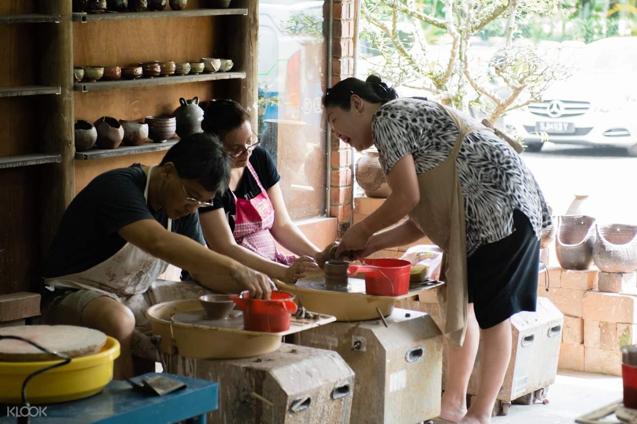 新加坡 龍窯 陶光工藝廠拉坯教學