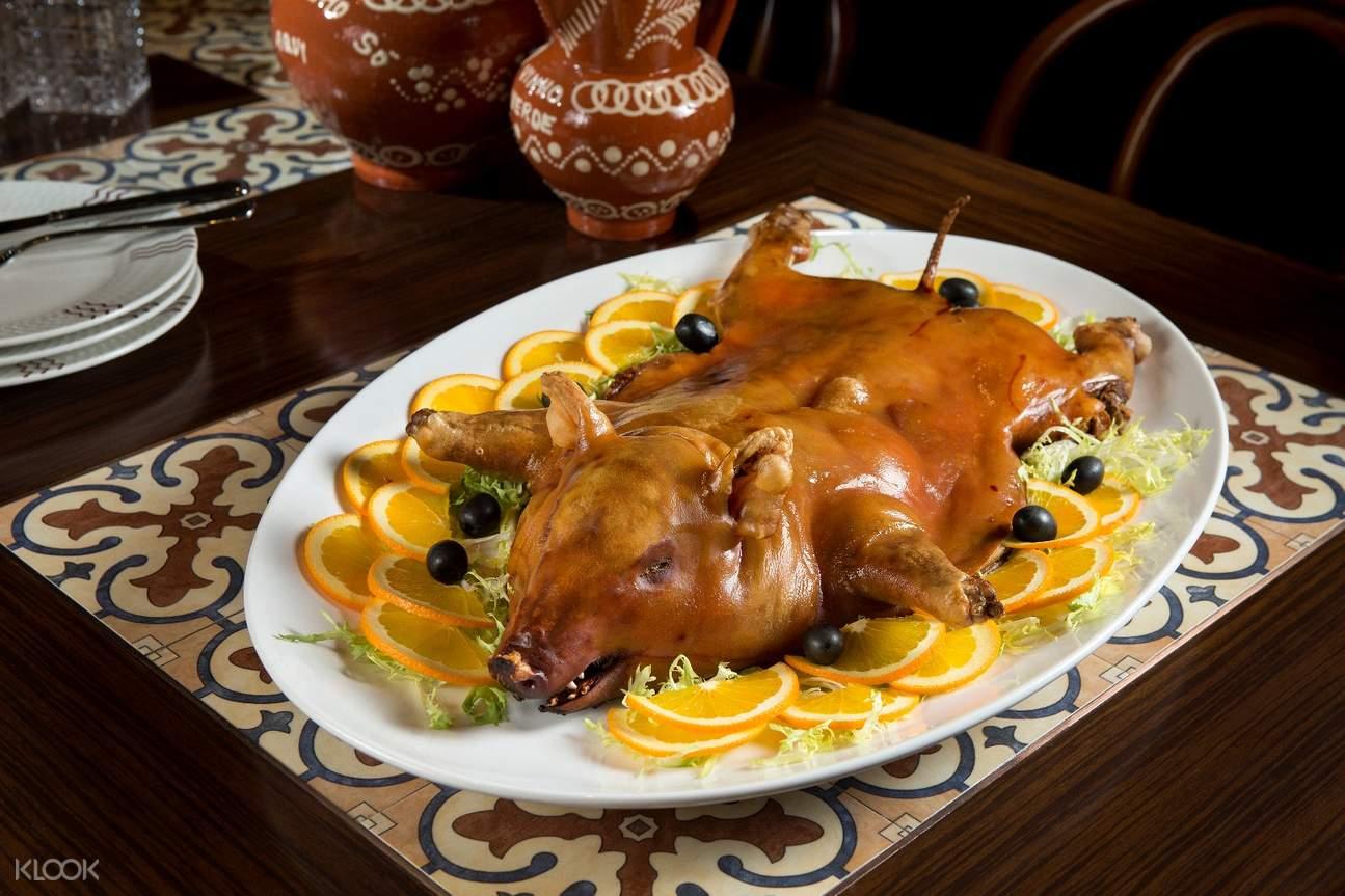 baked suckling pig dragon portuguese cuisine broadway macau