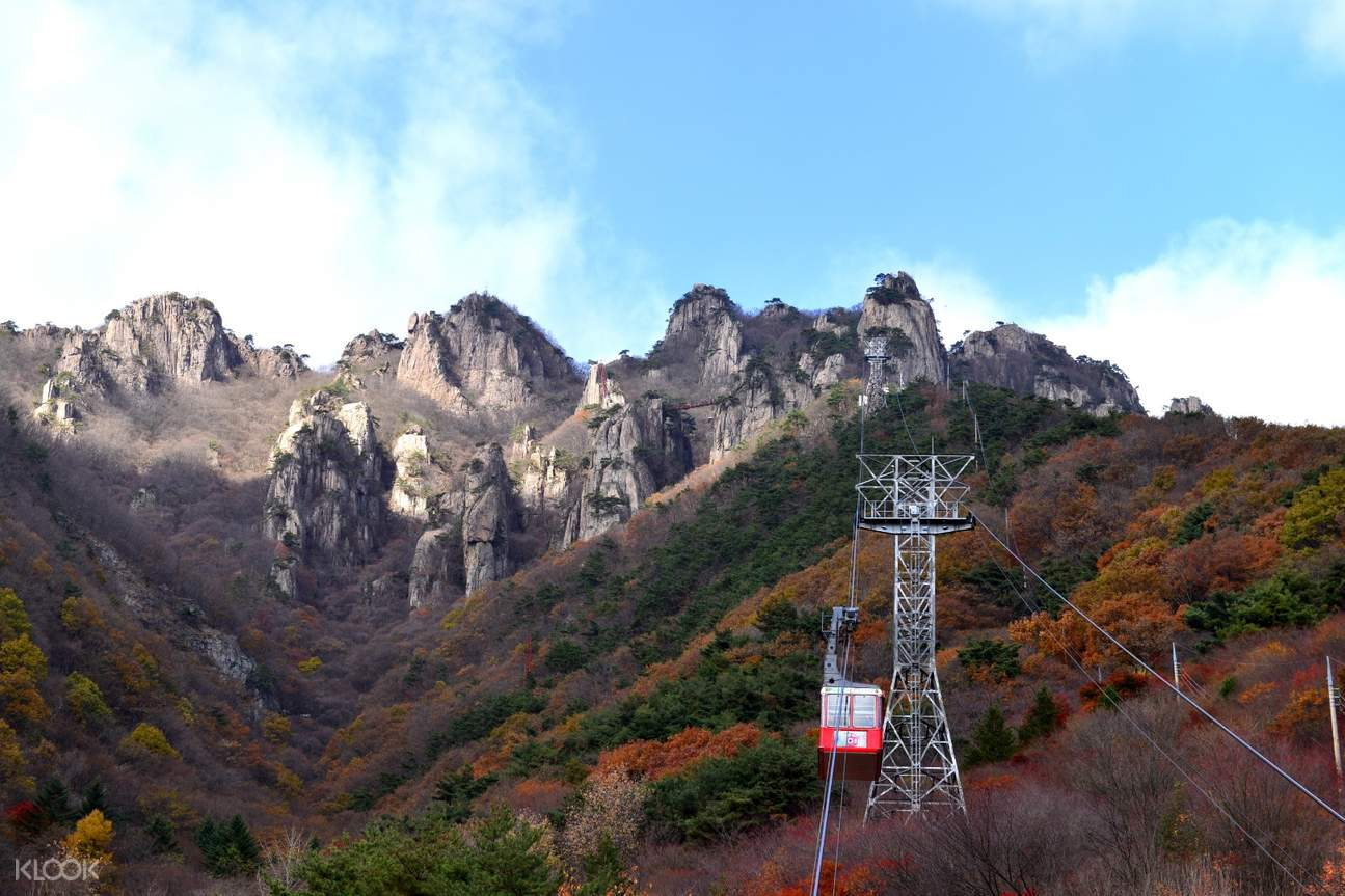daedun mountain with suspension bridge